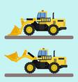 bulldozer truck vector image