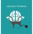 business concept brain vector image