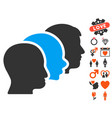 client profiles icon with dating bonus vector image vector image