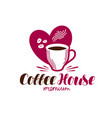 coffee house cafe logo espresso cappuccino hot vector image vector image
