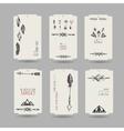 Collection of tribal vinatge hang tags vector image vector image