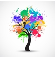Colorful abstract tree background vector image vector image