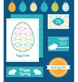 colorful horizontal ogee set of Easter vector image vector image
