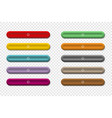 colorful long buttons for your web design on vector image vector image