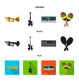 design of music and tune icon collection vector image