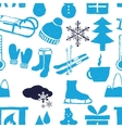 doodle winter seamless pattern vector image vector image