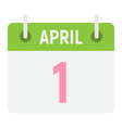 easter calendar flat icon easter and holiday vector image vector image