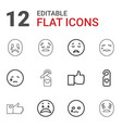 facebook icons vector image vector image