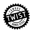 Famous dance style Twist stamp vector image vector image