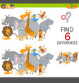 finding differences game for kids vector image vector image