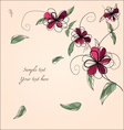 Floral bg with sample text vector image vector image