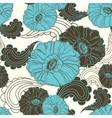 floral seamless blue poppy flower vector image