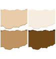 four shades of brown cardboard paper templates vector image vector image