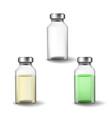 glass medicine vials vector image