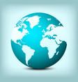 globe world map icon vector image vector image