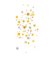 golden and silver stars falling luxury glitter vector image vector image