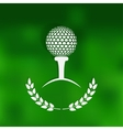 golf symbol green blurred background vector image vector image