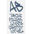 Graffiti font - Marker - alphabet vector image vector image