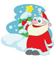 happy santa claus cartoon character vector image vector image