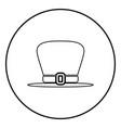 hat leprechaun icon black color simple image vector image
