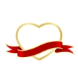 heart frame ribbon vector image