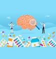 human brain medicine health pills drug capsule vector image vector image