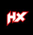 hx logo design initial hx letter design vector image vector image
