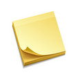 isolated yellow sticky notes vector image