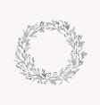 line drawing leaf flower wreath frame vector image vector image