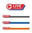 live stream logo design vector image vector image