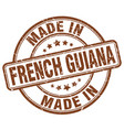 made in french guiana brown grunge round stamp vector image vector image