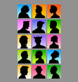 Male Avatar Silhouettes Set vector image vector image