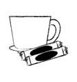 mug and dish vector image vector image