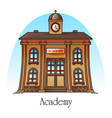 national science academy or education building vector image vector image