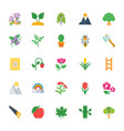 nature and ecology flat colored icons 3 vector image vector image