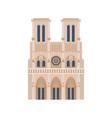 notre dame de paris isolated historic building vector image vector image