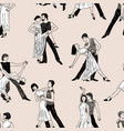 pattern of the dancing couples vector image vector image