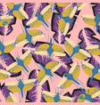 pattern with dragonfly on pink vector image vector image
