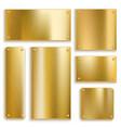 plates golden metallic yellow plate gold shiny vector image vector image