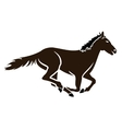 racing horse icon vector image vector image