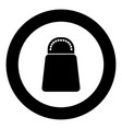 salt or pepper icon black color in circle vector image