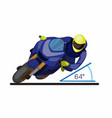 scale degree leaning angle on cornering motorsport vector image vector image