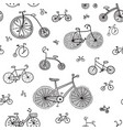Seamless pattern with ethnic style bikes