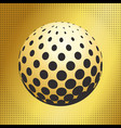 set abstract halftone 3d spheres 41 vector image vector image