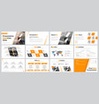 set of business slides for presentation with vector image vector image