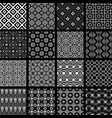 set of monochrome retro seamless patterns vector image