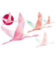 Shadoof Abstract Crystal Pink shadoof vector image