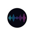 sound wave isolated icon vector image