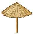 straw umbrella vector image vector image