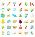 support icons set cartoon style vector image vector image